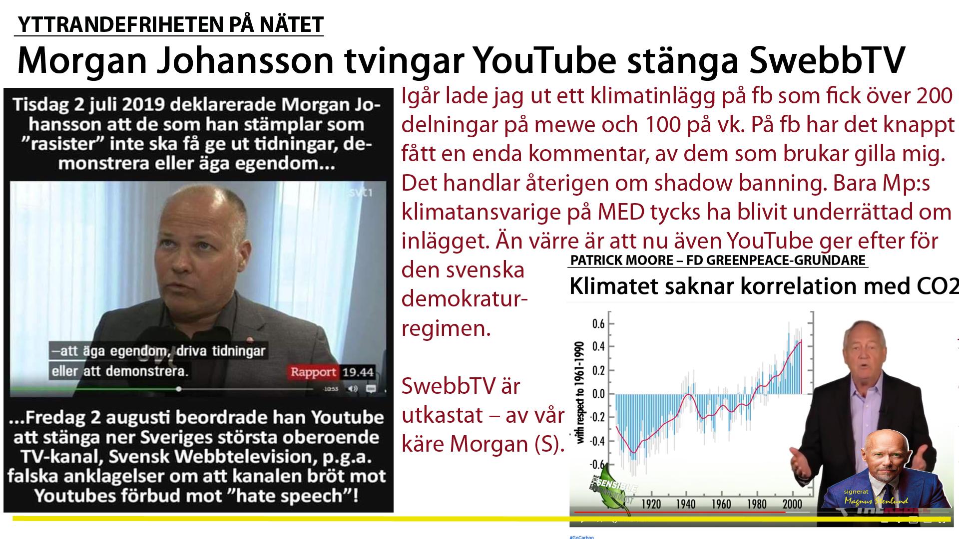 SwebbTV censureras – av Morgan.
