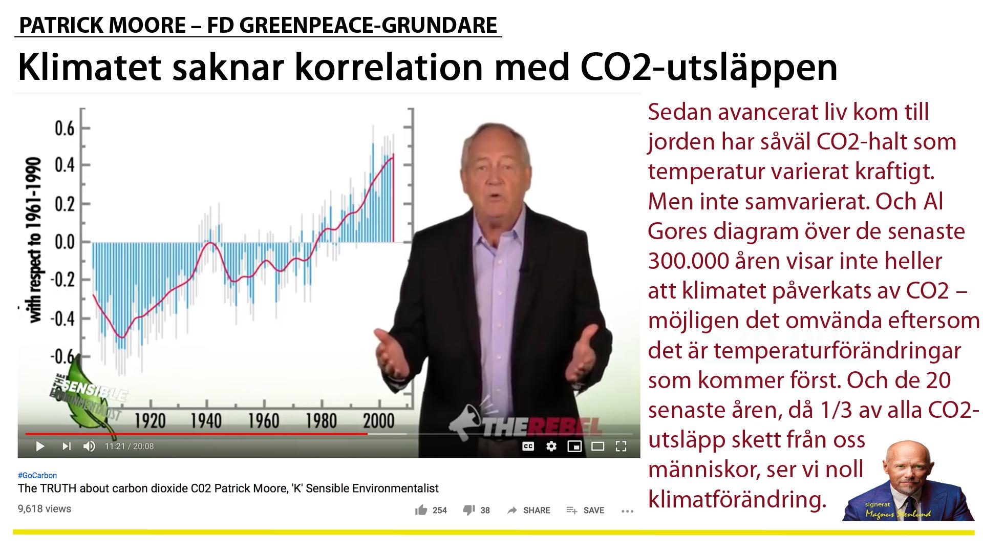 Klimataktivisterna är vår tids religiösa inkvisition. Och Patrick Moore, fd Greenpeace, är vår tids Galilei – tystad på Youtube.
