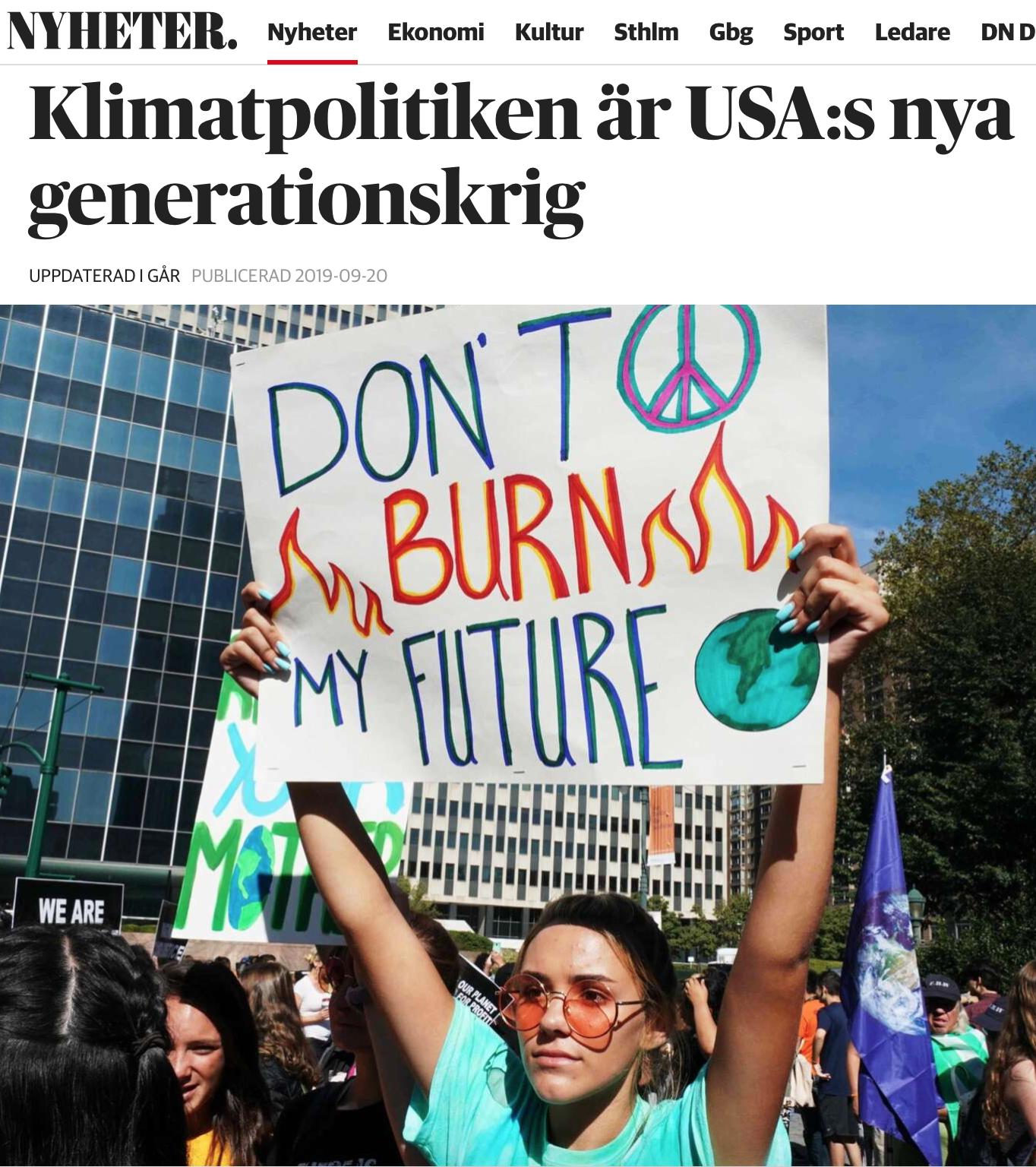 Klimatreligionen: Vik undan hädare, vi är många, därför måste vi ha rätt