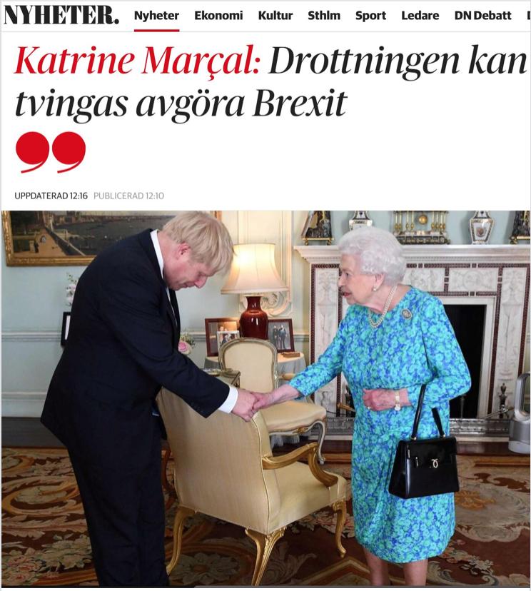 Boris Jonsons hårda Brexit chockar pundet. Men inte ned till den svenska kronans bottennivå förstås.