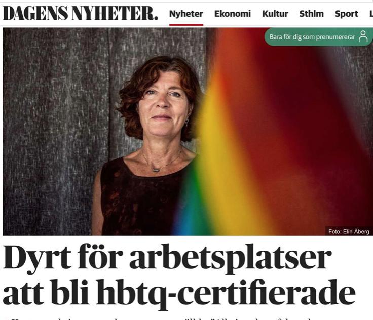 HBTQ-certifiering – inte bara onödigt – en svindyr affär för skattebetalarna