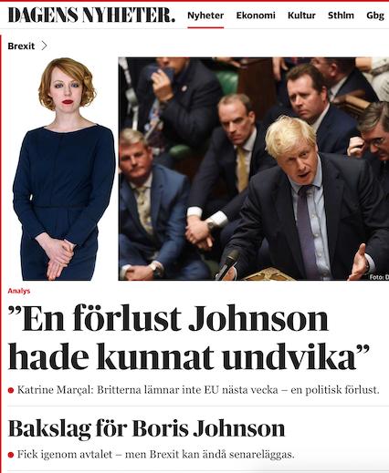 Brexit som brexit. Johnsons nederlag är en illusion.