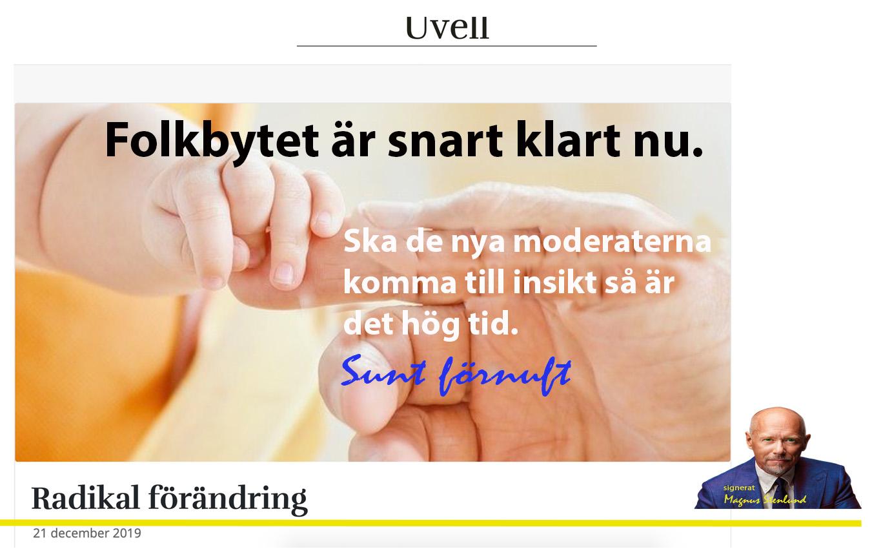 Folkbytet: nu är vi med två svenska föräldrar nere i 60%, i åldrarna 15-45.