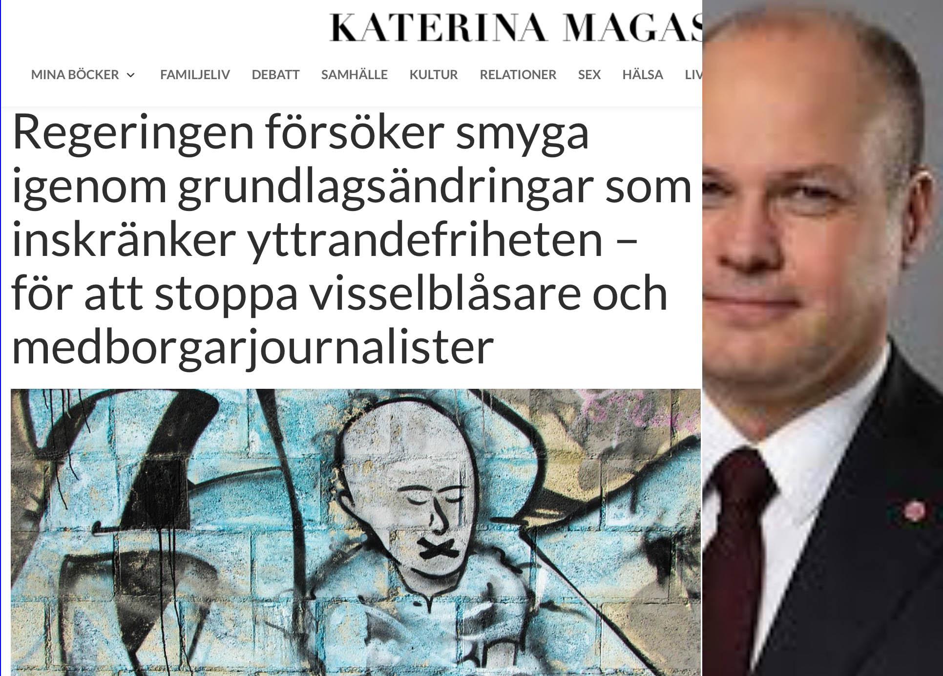Morgans 'Lag om utlandsspionage' avser tysta vanliga svenskars regimkritik och 'hat', inte utländska agenter.