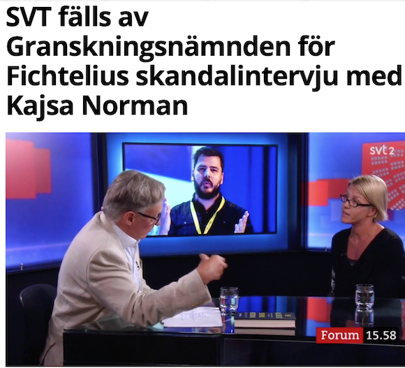 Är SVT skattefinansierad vänsterpropaganda? Fichtelius ger svaret.