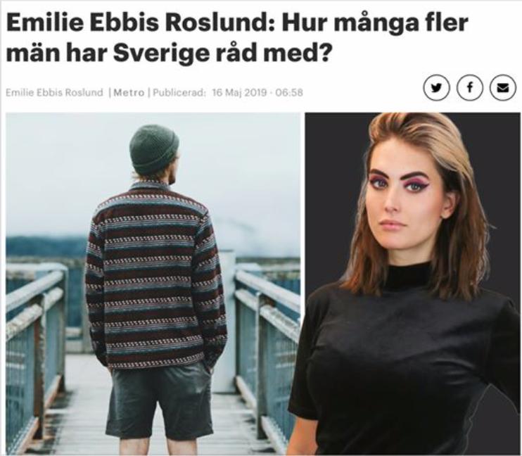 Islams kvinnoförtryck och könsdysfori är inte argument för manshat mot svenska 'cis-män'