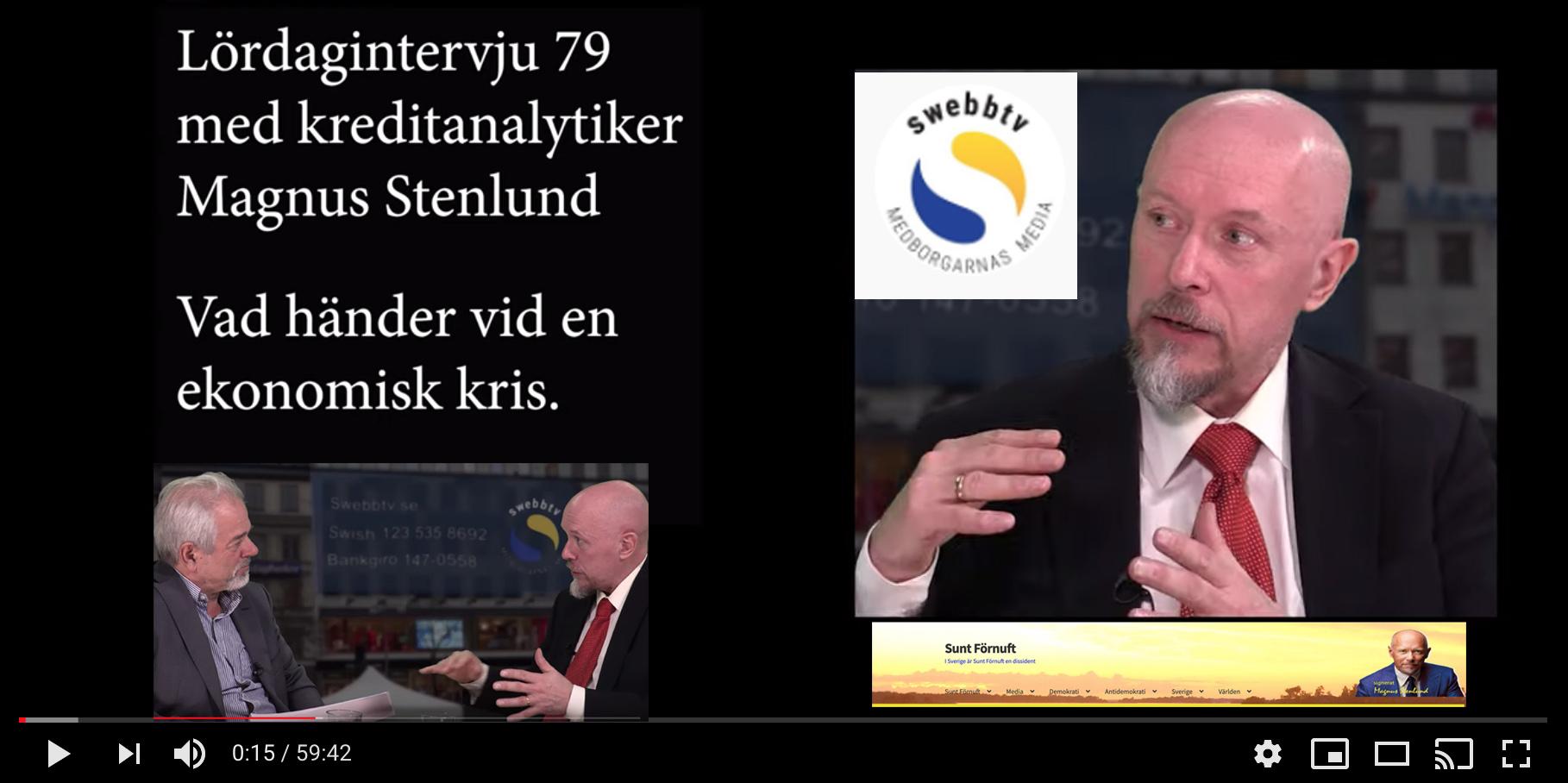 Swebbtv lördagsintervju 79 – om den finansiella krisen och hur den bör lösas.
