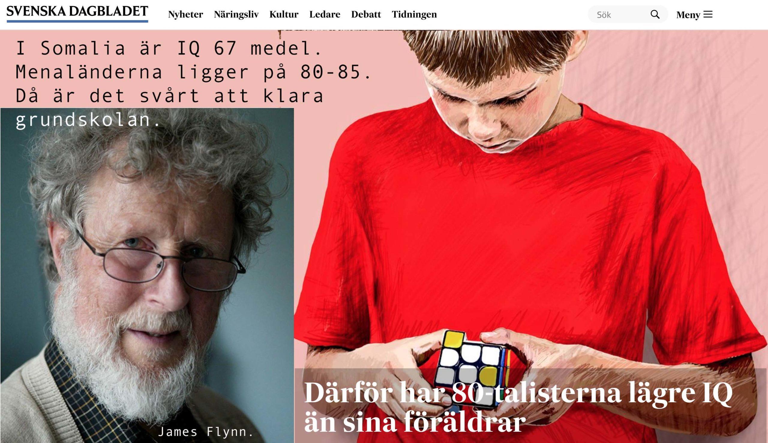 Mellan födda 1962 och 1991 har IQ minskat med 6,85. Vad gör vi åt det?