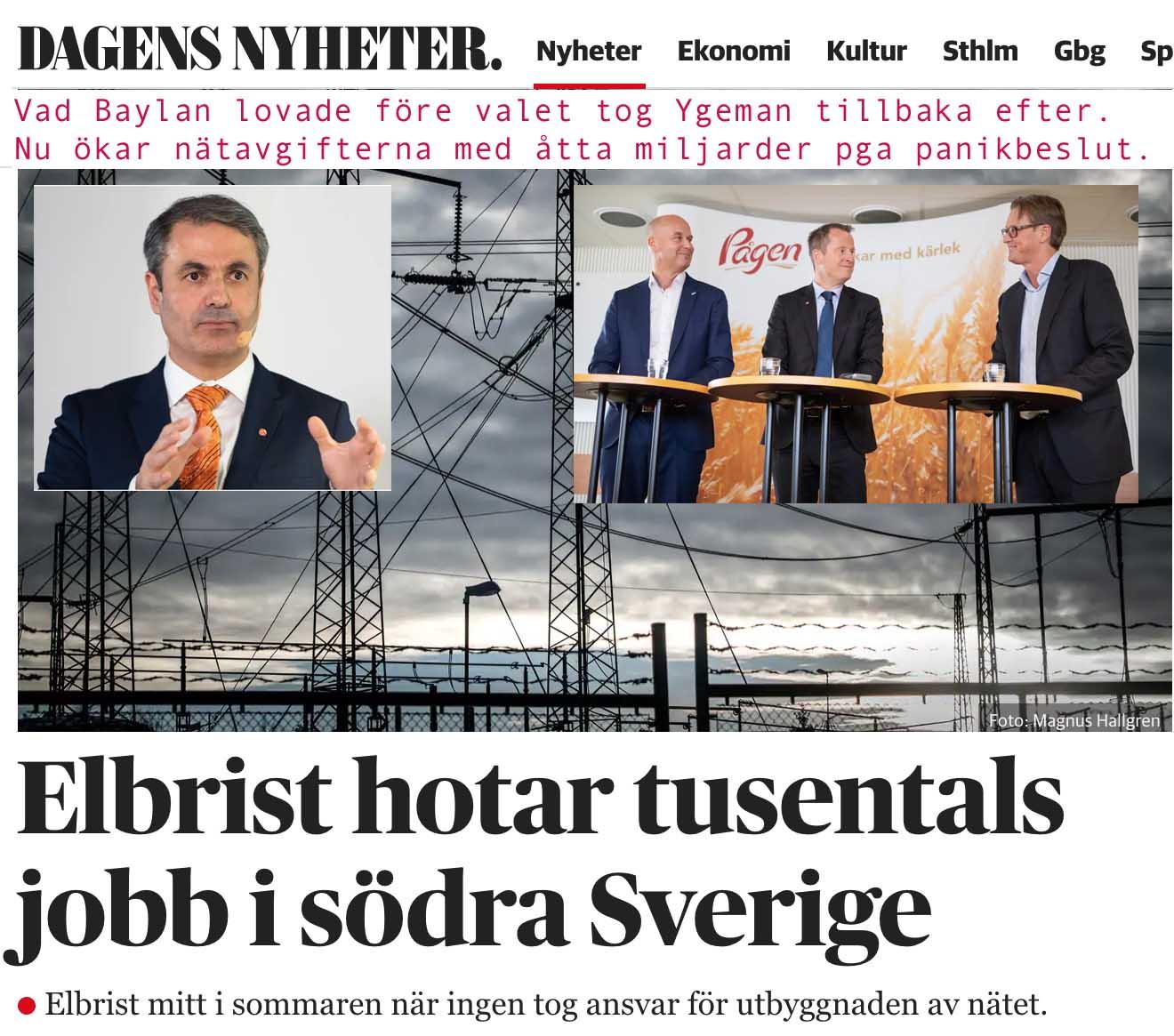 Elbrist i södra Sverige. Vänj er.