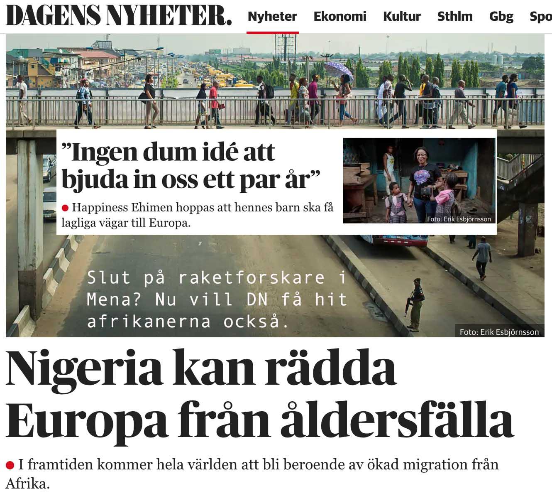 Afrika blir 3 mdr fler före århundradets slut. Godhetsknarkarnas nästa projekt – hur vi ska få dem till Sverige.