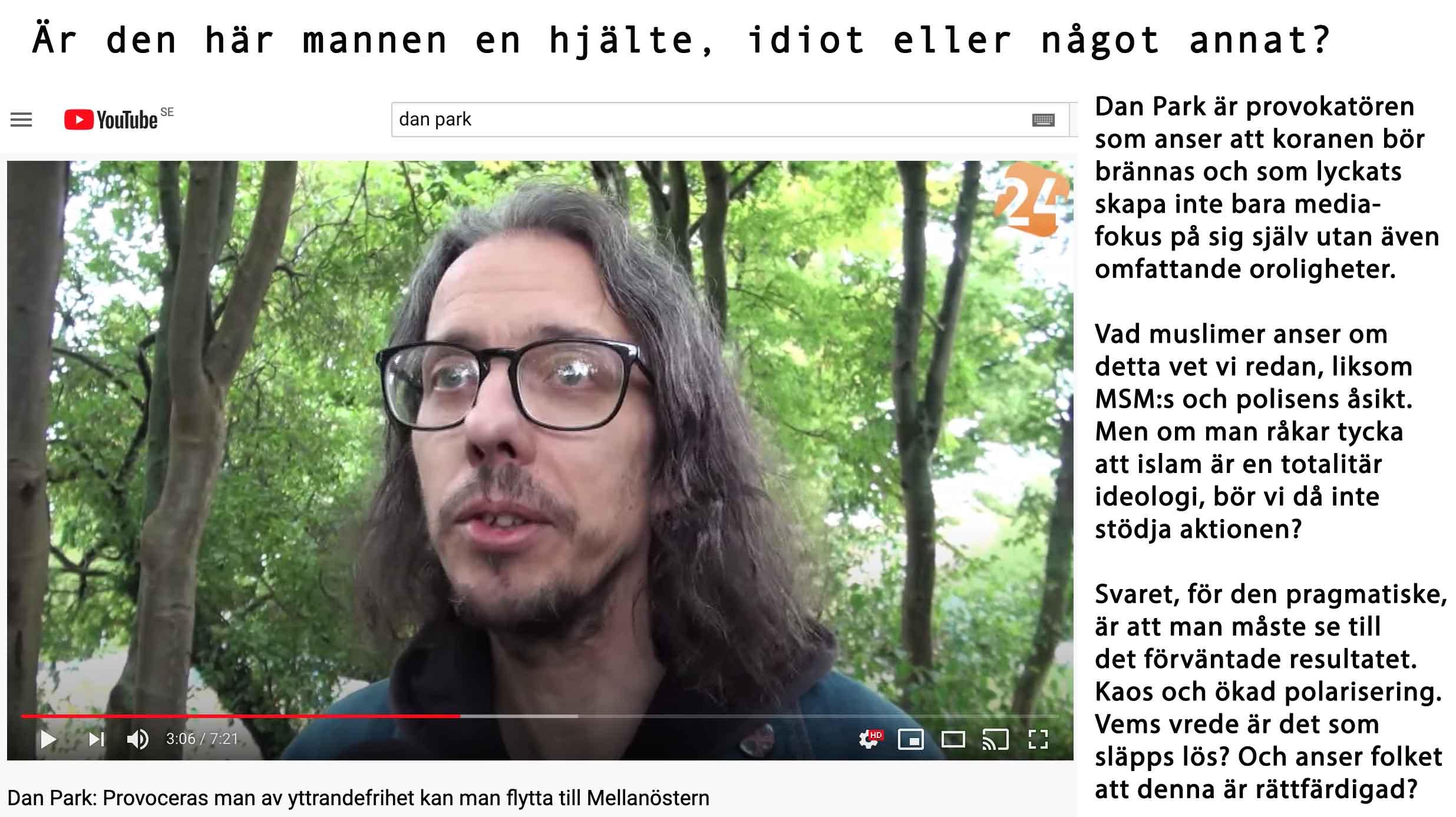 Är Dan Park Sveriges svar på van der Lubbe?