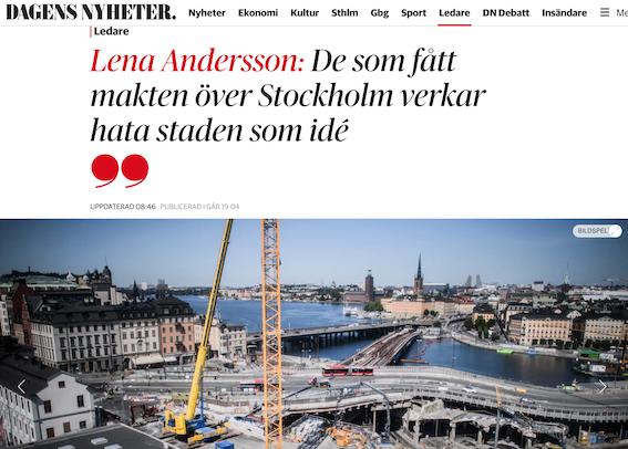 När Stockholm stöps om i den postmoderna sleven så blir det förort även av innerstaden