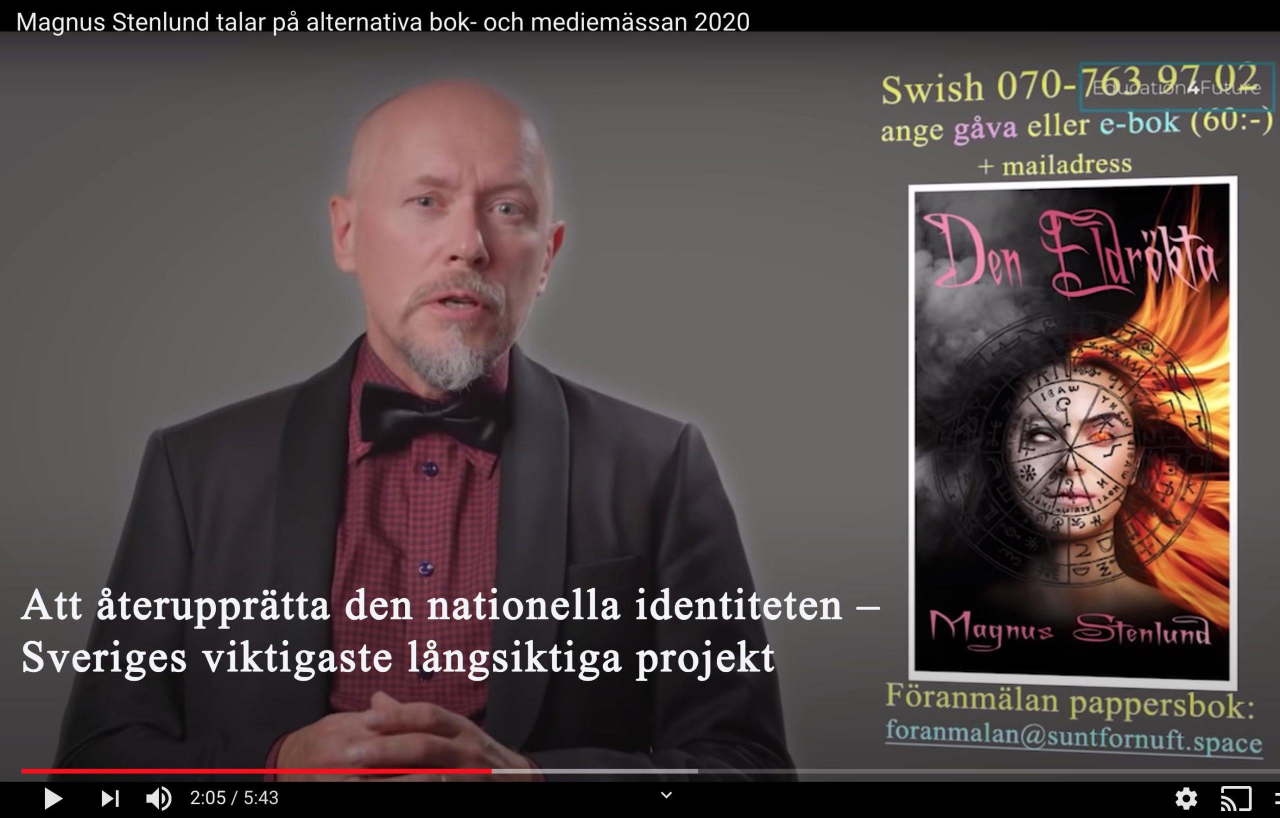 Att återupprätta vår nationella identitet – på sikt Sveriges viktigaste projekt.